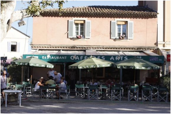 Restaurant in Place des Lices (creative commons)