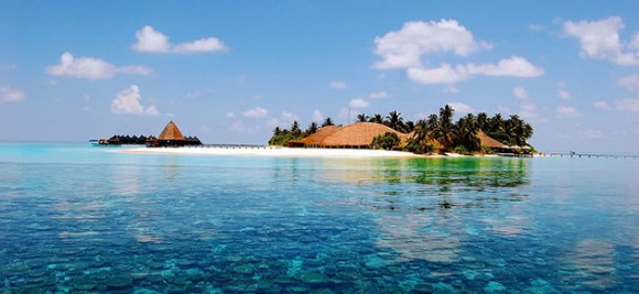 A reef and resort in the Maldives. Creative Commons- Mohamed Lujaz Zuhair