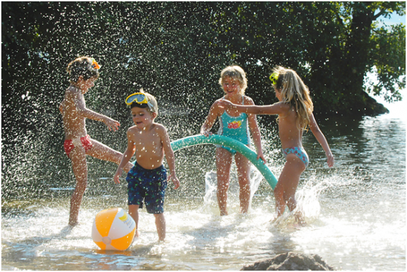 Children playing in camping holiday (creative commons)