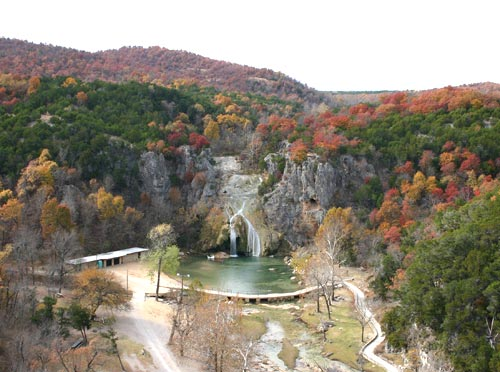 Turner Falls, nestled in the Arbuckle Mountains of South Central Oklahoma