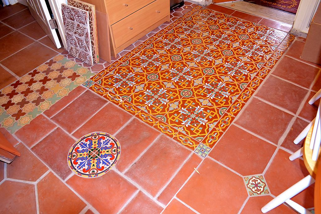 Spanish tile makes for inspiring island interiors ... photo by CC user Dschag via wikipedia